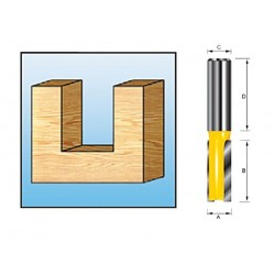 Fresa recta 2 filos D-10051