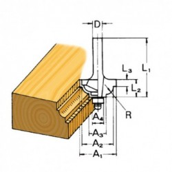 Fresa molduradora D-09553