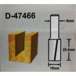 Fresa recta 2 filos 10mm M6...